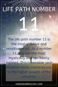 Life Path 11 meaning