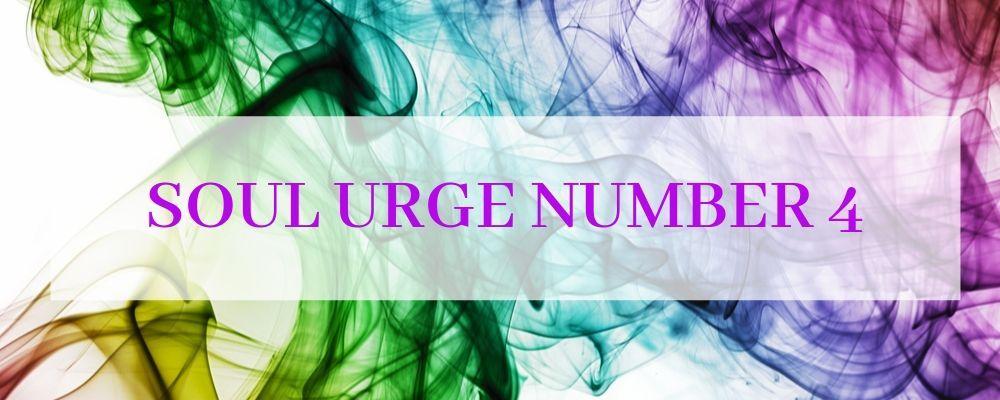 soul urge number 4
