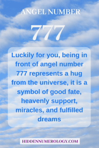 angel number 777 a symbol of good fate