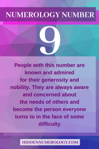 numerology 9 people
