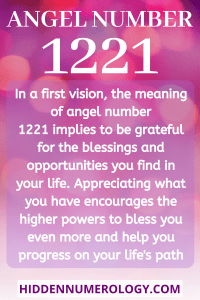 ANGEL NUMBER 1221 Meaning