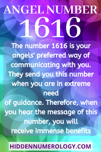 ANGEL NUMBER 1616 Meaning