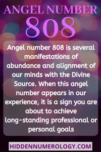 808 ANGEL-NUMBER