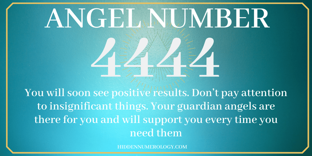 4444 ANGEL NUMBER MEANING