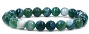 Natural Gemstone Handmade 8mm Round Beads Stretch Bracelet 7 Inch