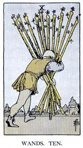 10 Wands Minor Arcana Tarot Card Meanings
