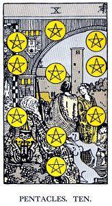 10 Pentacle Tarot card