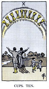 10 Cups Tarot Card