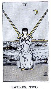 2 Swords Tarot Card