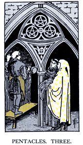 3 Pentacle Tarot card