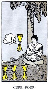 4 Cups Tarot Card