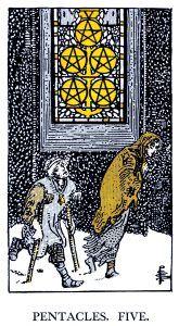 5 Pentacle Tarot card