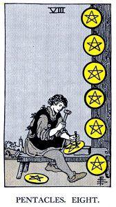 8 Pentacle Tarot card