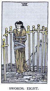 8 Swords Tarot Card