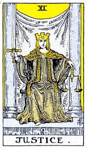 Justice Tarot - Major Arcana Tarot Card