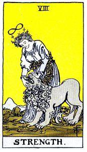 Strength Tarot - Major Arcana Tarot Card
