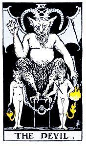 The Devil Tarot - Major Arcana Tarot Card