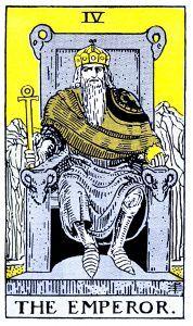 The Emperor Tarot - Major Arcana Tarot Card