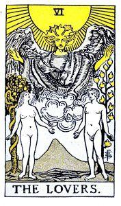 The Lovers Tarot - Major Arcana Tarot Card