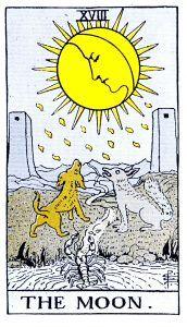The Moon Tarot - Major Arcana Tarot Card