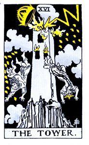 The Tower Tarot - Major Arcana Tarot Card