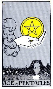 Ace Pentacle Tarot card
