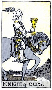 Knight Cups Tarot Card