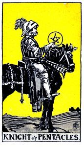 knight Pentacle Tarot card