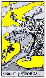 Knight Swords Tarot Card